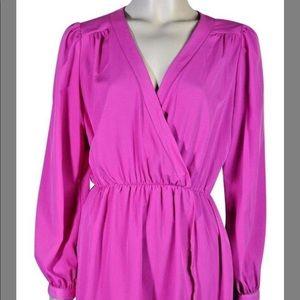 Honey punch hot pink wrap dress